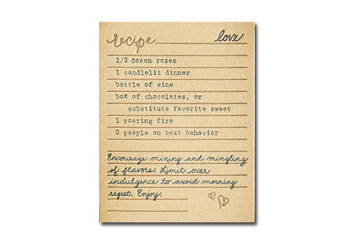 Belle and Union Love Recipe Letterpress Card | Room 2046 Toronto Canada