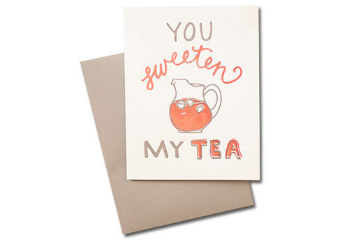 Belle and Union Sweeten Tea Letterpress Card