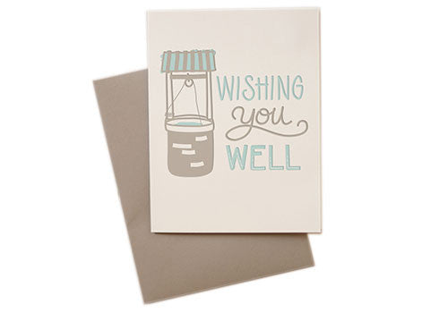 Belle and Union Wishing You Well Letterpress Card | Room 2046 Toronto Canada