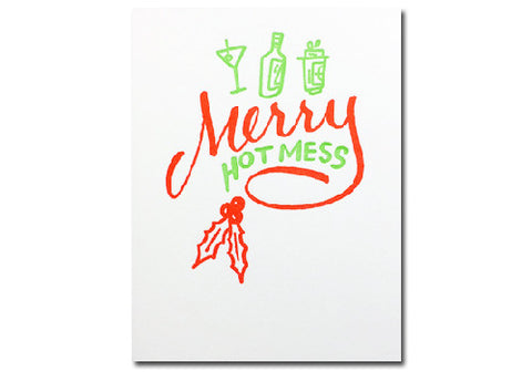 Bench Pressed Merry Hot Mess Holiday Letterpress Card | Room 2046 Toronto Canada