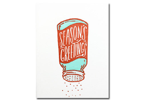 Bench Pressed Season's Greetings Holiday Letterpress Card | Room 2046 Toronto Canada