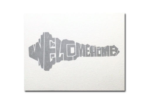 Bench Pressed Welcome Home Key Letterpress Card | Room 2046 Toronto Canada