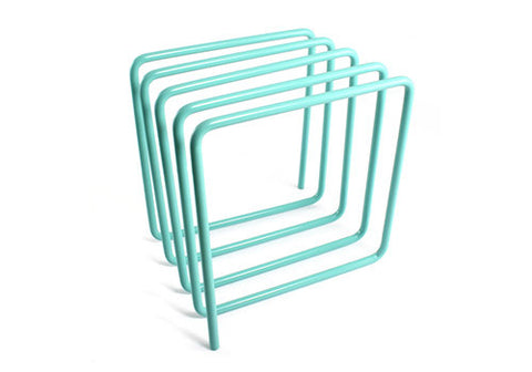 Block Design Magazine Rack - Turquoise | Room 2046 Toronto Canada