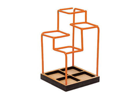 Block Design Sketch Desk Tidy - Orange