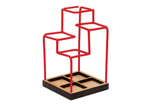 Block Design Sketch Desk Tidy - Red