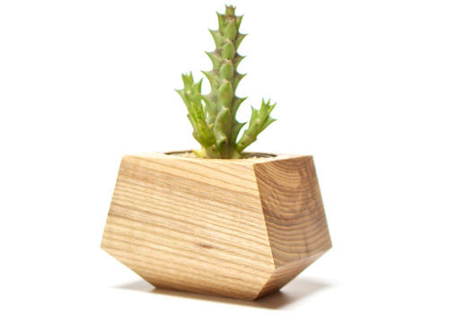 Boxcar Single Planter Ash Natural