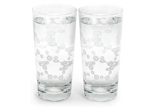 Cognitive Surplus Molecular Water Tumbler Glass Pair