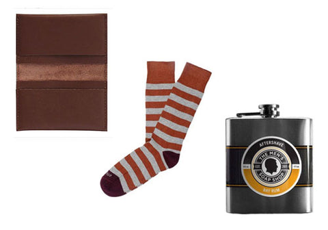 Classic Gent Bundle: Wallet + Aftershave + Socks