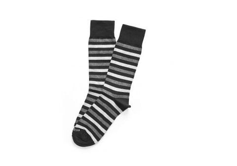 Etiquette Clothiers Crosswalk Stripes Tux Black Socks