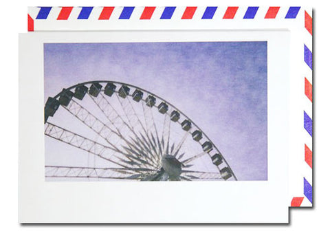 Dani Press Ferris Wheel Polaroid Airmail Card | Room 2046 Toronto Canada