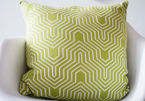 Darzzi Akaar Green Natural Cotton Cushion | Room 2046 Toronto Canada