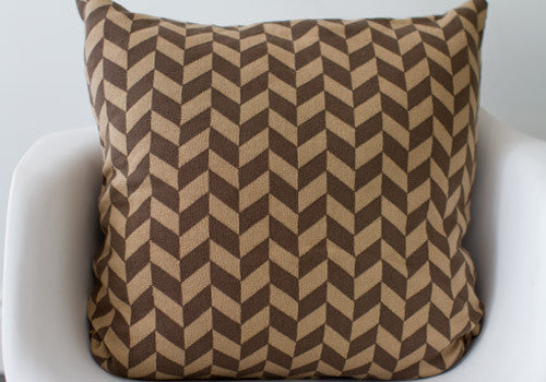 Darzzi Polygon Nougat Khaki Cotton Cushion | Room 2046 Toronto Canada
