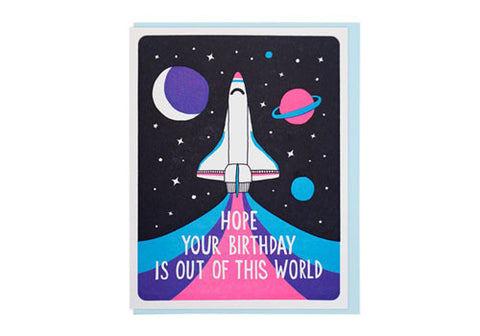 Lucky Horse Press Out of This World Birthday Greeting Card | Room 2046 Toronto Canada