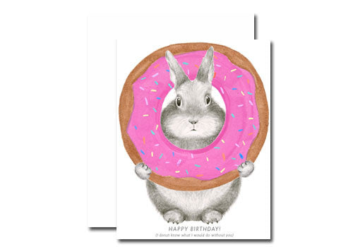 Shop Dear Hancock Donut Bunny Birthday Card In Room 2046 Concept