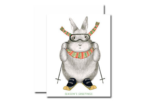 Dear Hancock Season's Greeting Ski Bunny Holiday Card | Room 2046 Toronto Canada
