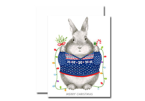 Dear Hancock Merry Christmas Sweater Bunny Holiday Card | Room 2046 Toronto Canada