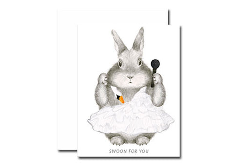 Dear Hancock Swoon For You Bunny Card | Room 2046 Toronto Canada