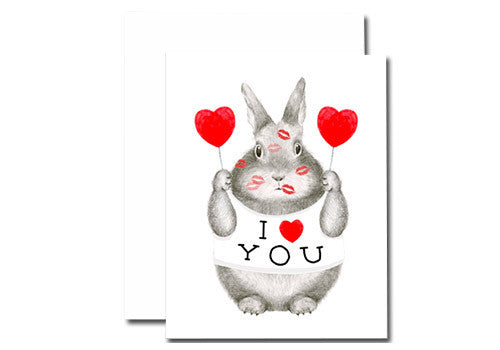 Dear Hancock I Love You Bunny Card | Room 2046 Toronto Canada