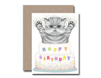 Dear Hancock Birthday Cake Cat Card | Room 2046 Toronto Canada