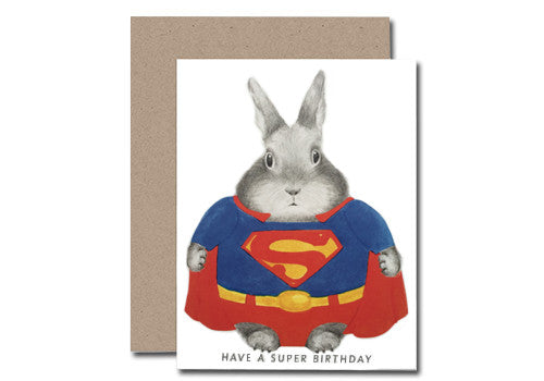 Dear Hancock Superman Bunny Birthday Card