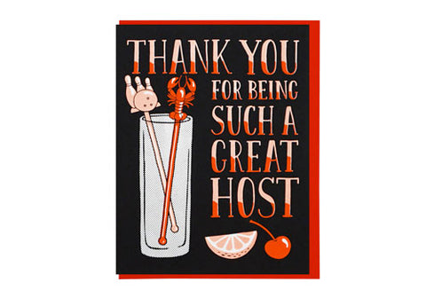 Lucky Horse Press Thank You Great Host Greeting Card | Room 2046 Toronto Canada