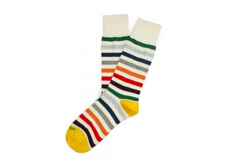 Etiquette Clothiers East River Multi Stripes Socks | Room 2046 Toronto Canada