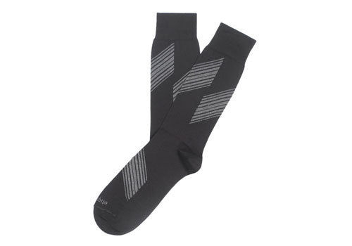 Etiquette Clothiers Shanghai Stripes Black Socks | Room 2046 Toronto Canada