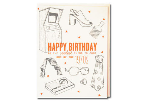 Flakes Paperie 70s Cool Birthday Card | Room 2046 Toronto Canada