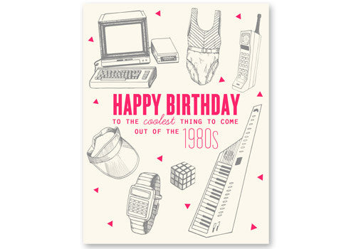 Flakes Paperie 80s Cool Birthday Card