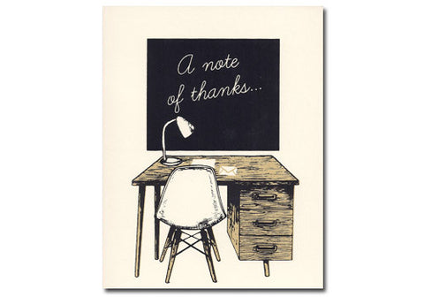 Flakes Paperie A Note of Thanks Screenprinted Card