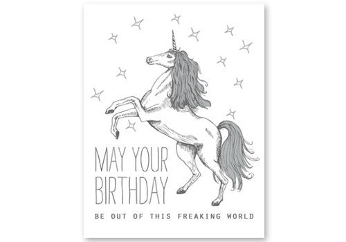 Flakes Paperie Unicorn Birthday Card