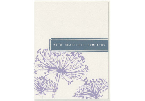 Flakes Paperie Floral Sympathy Card