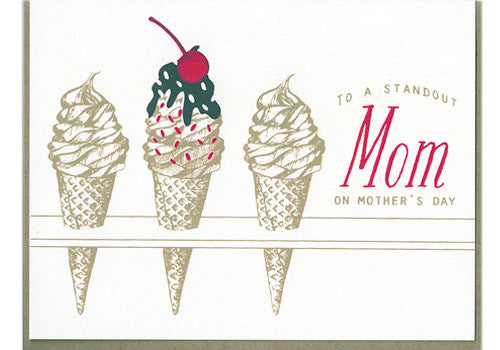 Flakes Paperie Ice Cream Standout Mother's Day Card