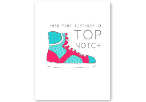 Flakes Paperie High Tops Birthday Card