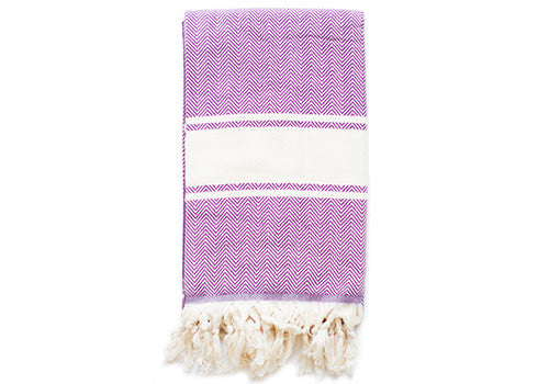 Fine Loom Balik Sirti 01 430g Cotton Turkish Towel - Purple | Room 2046 Toronto Canada