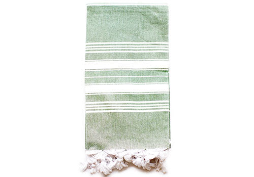 Fine Loom Cairus 370g Cotton Turkish Towel - Green Tea | Room 2046 Toronto Canada