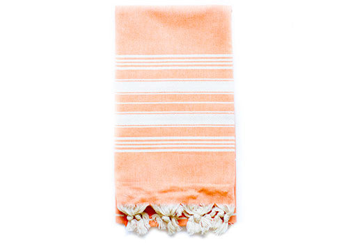 Fine Loom Cairus 370g Cotton Turkish Towel - Tangerine | Room 2046 Toronto Canada