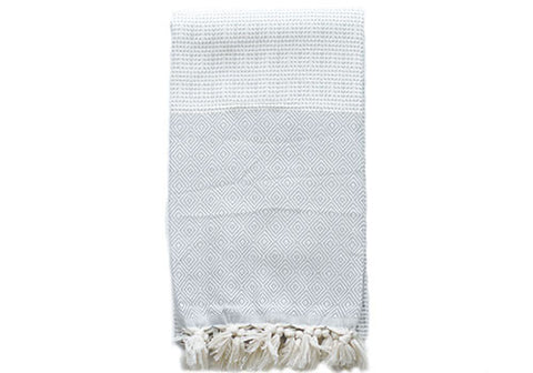 Fine Loom Elmas 450g Cotton Turkish Towel - Dove Grey | Room 2046 Toronto Canada