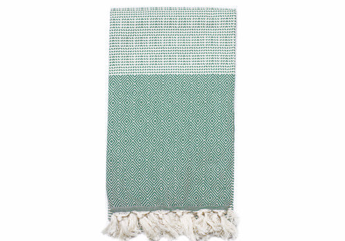 Fine Loom Elmas 450g Cotton Turkish Towel - Hunter Green | Room 2046 Toronto Canada
