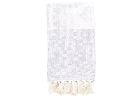 Fine Loom Elmas 450g Cotton Turkish Towel - Light Grey | Room 2046 Toronto Canada