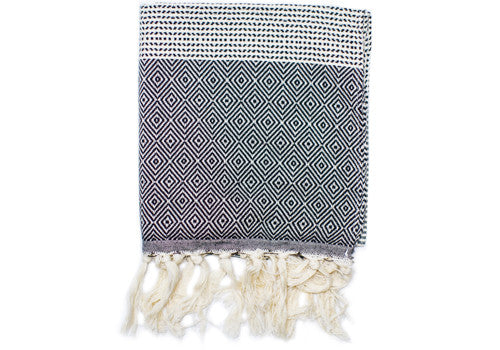 Fine Loom Elmas 130g Cotton Turkish Hand Towel - Obsidian Black | Room 2046 Toronto Canada