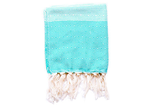 Fine Loom Elmas 130g Cotton Turkish Hand Towel - Turquoise | Room 2046 Toronto Canada