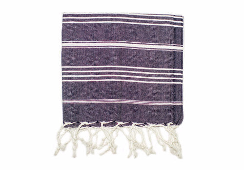Fine Loom Peshkir 80g Cotton Turkish Hand Towel - Navy | Room 2046 Toronto Canada