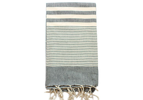 Fine Loom Hereke 320g Cotton Turkish Towel - Slate | Room 2046 Toronto Canada