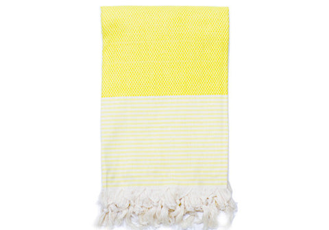 Fine Loom Petek 370g Cotton Turkish Towel - Canary Yellow | Room 2046 Toronto Canada