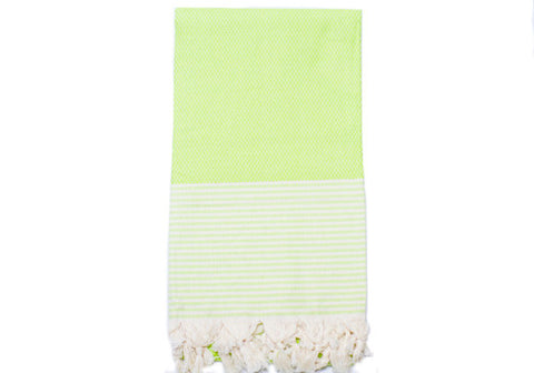 Fine Loom Petek 370g Cotton Turkish Towel - Lime Green | Room 2046 Toronto Canada
