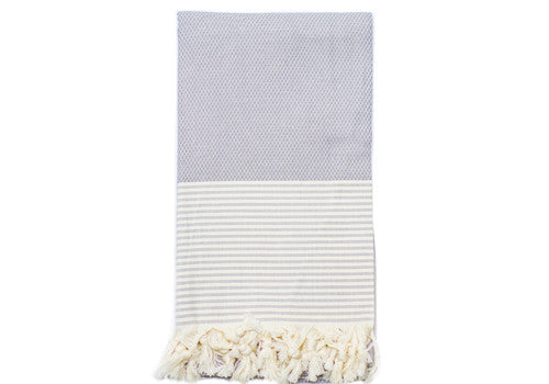 Fine Loom Petek 370g Cotton Turkish Towel - Misty Grey | Room 2046 Toronto Canada