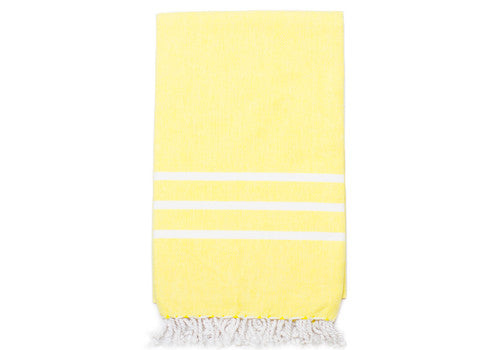 Fine Loom Sade 350g Cotton Turkish Towel - Mellow Yellow | Room 2046 Toronto Canada