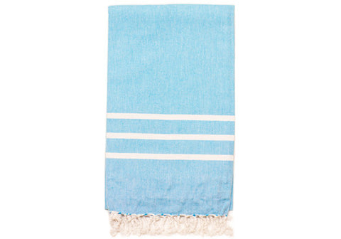 Fine Loom Sade 350g Cotton Turkish Towel - Sky Blue | Room 2046 Toronto Canada