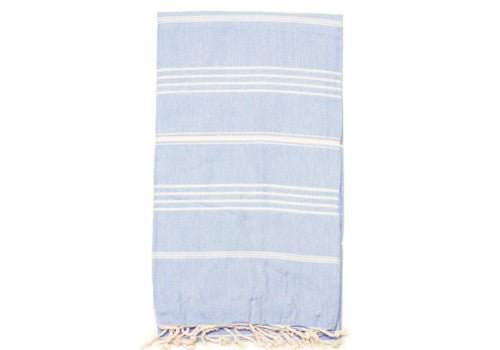 Fine Loom Sultan 260g Cotton Turkish Towel - Baby Blue | Room 2046 Toronto Canada